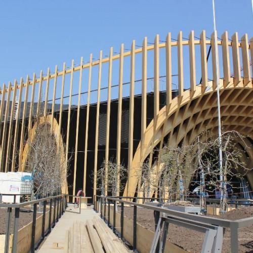 SAGA-Episode 4 : Traitement et protection des pièces de bois du Pavillon français à l'exposition universelle de Milan