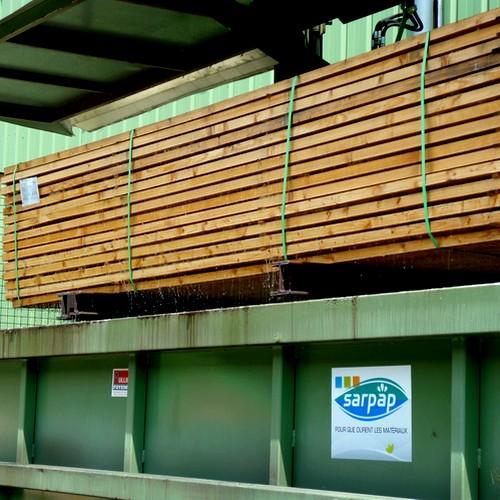Le traitement préventif du matériau bois par bac de trempage