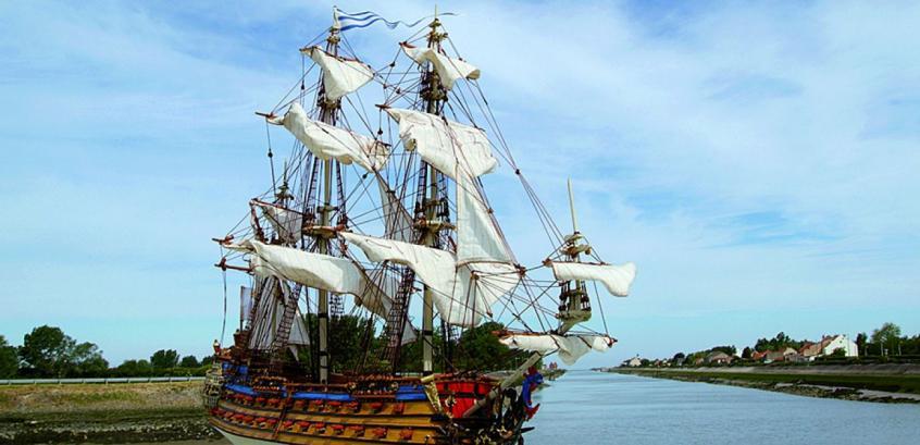 Jean-Bart, photo du vaisseau quand il sera terminé.